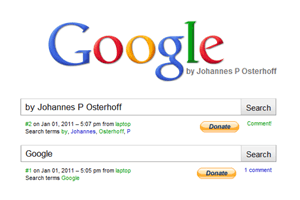 Johannes P Osterhoff - Google – One Year Piece