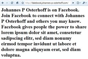 johannes p osterhoff - Fakebook